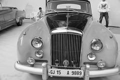 Bentley monochrome.jpg (NP Photo2010) Tags: india cars colors vintage iso200 nikon asia shape classiccars bentley gujarat vadodara 2015 d90 manualexposure westernindia 1801050mmf3556