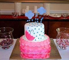 'Love makes good things grow' Baby Shower Cake (SweetsBySumi) Tags: pink baby rain cake clouds umbrella dessert shower lemon yum floating ombre raindrops vanilla custard edible umberella babyshower hotpink fondant buttercream twotier showersofhappiness pintrest lovemakesgoodthingsgrow