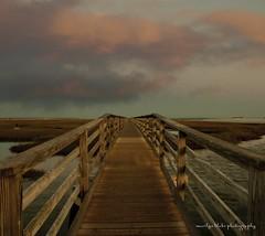 Boardwalk Early Morning (mblakephoto) Tags: ocean morning summer beach water clouds sunrise fun outdoors sand capecod massachusetts boardwalk yarmouth basshole graysbeach