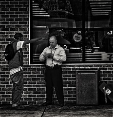 """Yeah, Ya Got Trouble Right Here In River City"", South Capital Street, Congress Heights, Washington, DC (Gerald L. Campbell) Tags: street urban bw digital washingtondc blackwhite dc downtown citylife streetphotography spirituality aloneness injustice blackmale socialcommentary socialdocumentary indifference alienation urbanphotography inequality congressheights spiritualindifference canonsx50hs"