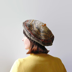 Ombr Brown Beret (branda knits) Tags: knits etsy beret tam branda