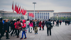 Tiananmen Square 03 (Barthmich) Tags: voyage china trip square fuji place beijing journey fujifilm  1855mm  fujinon tiananmen chine lightroom xf pkin xe2 fujixe2