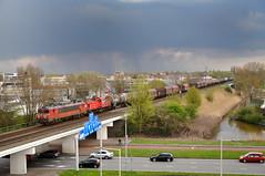 DBC 1616 + 6512 met Unit Cargo, Rotterdam Alexander, 13-04-2016 (Michael Postma) Tags: rotterdam db cargo alexander lage zwaluwe 1616 6512 kijfhoek moerdijkbrug