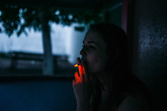 (Eugene Hmur) Tags: portrait people girl rain smoke si peo sigma35 d700