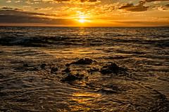 Kamaole Beach Sunset (philhaber) Tags: ocean sunset cloud sun seascape reflection beach water hawaii twilight sundown dusk maui pacificocean kihei kamaolebeachiii