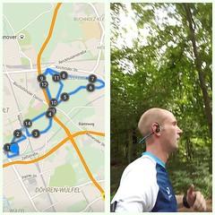 Dienstag=Intervalltraining! Heute standen 15min Einlaufen, 6x1km 10RT dazwischen 3min langsam Laufen und 10min Auslaufen auf dem Plan. Und trotz der Wärme lief es diese Woche echt gut! Längere Intervalle klingen zwar fieser, sind aber besser als mehrere I
