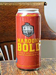 Maroon and Bold (knightbefore_99) Tags: wood usa beer barley minnesota table drink maroon cerveza ale craft tasty can double delicious bent camra bold hops pivo malt