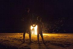 Bonfire (jimbyrden) Tags: pangkil indonesia island sun sea sky sand beach beauty beautiful scenic holiday vacation escape getaway landscape night fire bonfire silhouette silhouettes