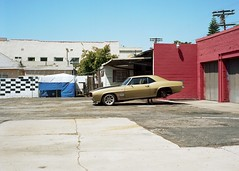 Checkered wall Camero (ADMurr) Tags: loo camero rollei zeiss gold la kodak crop hollywood gower planar ektar jacked