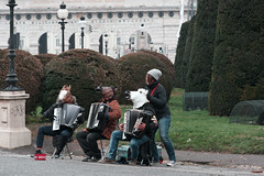 Did you pay the busker? (martyr_67) Tags: vienna horse performance piano busker accordian lipizzaner