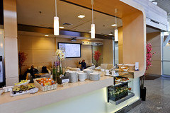 Buffet counter (A. Wee) Tags: airport lounge lot poland warsaw chopin buffet businessclass   lotpolish