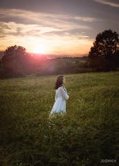 Sunset at wheat field (de_kovach) Tags: sunset sky sun nature girl warm priroda srbija nebo sumadija arandjelovac