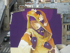 Inti : cration en cours (27 juin 2016) (Archi & Philou) Tags: streetart girl lady femme workinprogress wip inti madone paris13 paintedwall murpeint travailencours itinerrance