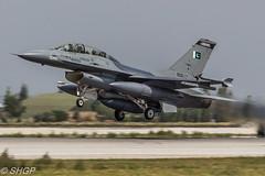 F-16B Fighting Falcon, Pakistan Air Force, Anatolian Eagle 2016, Turkey (harrison-green) Tags: pakistan canon turkey airplane eos force eagle outdoor aircraft aviation air jet sigma f16 falcon vehicle pakistani fighting turkish nato airliner anatolian 2016 f16a f16c 700d 150500mm