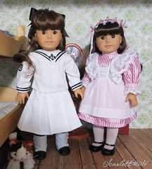 Ready for Summer at Piney Point (scarlett1854) Tags: americangirl ag americangirldoll samantha victorian edwardian 1904 lake pineypoint doll dollcollection pleasantcompany mattel cabin sailor dress