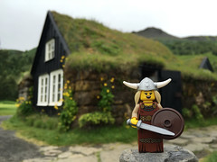 LEGO Collectible Minifigures Series 7 : Viking Woman (wiredforlego) Tags: toy iceland lego plastic viking kef minifigure cmf 8831