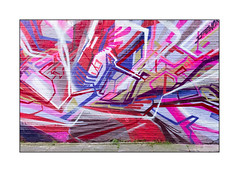 Graffiti (Autone, Itaewon), East London, England. (Joseph O'Malley64) Tags: uk greatbritain england streetart london wall graffiti weeds mural paint britain pavement spray british walls cans aerosol pointing brickwork eastend itaewon eastlondon wallmural muralist autone autone1 itaewonseoulsouthkorea