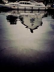 Houseboat... (captainmorganme) Tags: mirror water reflection boat houseboat uk norfolk wroxham