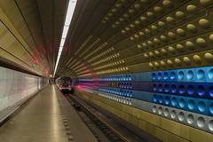 Golden Metro (and0rh) Tags: street city light urban color station subway gold prague metro pentax indoor ubahn tunel fa31 strassenfotografie
