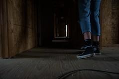 Footsteps (Thomasbroo) Tags: old abandoned girl dark fxbg
