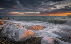 Volatility @ Selsey Bill (scott.hammond34) Tags: sea sky cloud seascape beach water landscape sussex coast rocks waves outdoor shore selsey selseybill volatility
