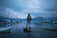 Attersee (Paulina Wierzgacz) Tags: people adventure roadtrip road reportage landscape lake travel traveller trip travelling tourist portrait austria austriantime upperaustria europe explore alps nature journey morning port boat home