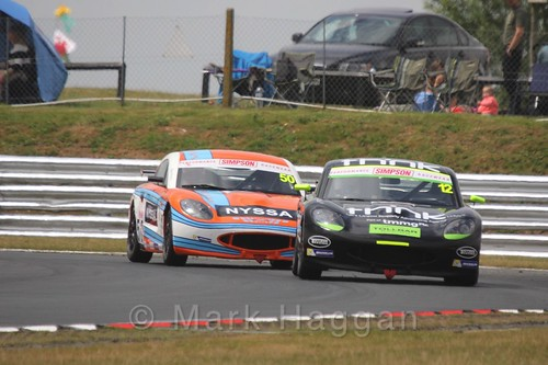 Alex Day and Geri Nicosia in Ginetta Junior Racing during the BTCC 2016 Weekend at Snetterton
