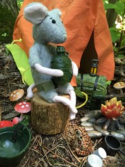 A Message of Love (Foxy Belle) Tags: mouse camping woods soldier story scene miniature dollhouse 112 gi joe tent toad critters ceramic