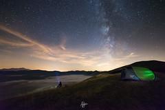 Crystals (Andrea Iorio - Landscape Photography) Tags: night castelluccio norcia milky tent camping umbria italy