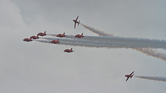 Smoke and Cloud 9062 (Thorbard) Tags: bournemouthairfestival2016 overcast rafredarrows rafhawkt1 baesystemshawkt1 stunt acrobatics aerobatics smoke smoketrails sigma120300mmf28dgoshsmsport airshow