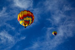 Two Balloons Over Page (Alan Amati) Tags: amati alanamati america arizona az hot air balloon balloons page southwest sw blue sky clouds hotairballoons flight soar soaring drifting wisps