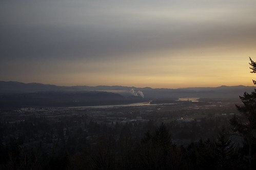 Overlooking Portland from Rocky Butte