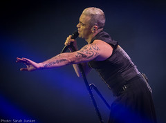 Robbie Williams - Madrid (sxdlxs) Tags: madrid show light shadow music lights concert spain williams live gig tattoos singer robbie concertphotography robbiewilliams rw liveshow musicphotographer musicphotography gigphotography letmeentertainyou gigphotographer lmey barclaycardcenter sarahsconcerts lmeytour