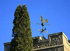 Weather Vane (Cindy's Here) Tags: canada church canon bluesky manitoba rooster weathervane 107 selkirk 115