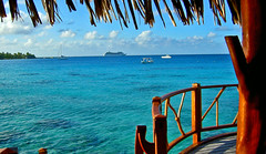 Tahitianprincess and watervilla Hotel KIAORA Tahiti Rangiroa (sapphire_rouge) Tags: france lagoon resort tahiti atoll kiaora rangiroa polynesia snorkeling  franchpolynesia    atool polynsiefranaise  island
