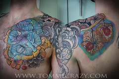 small frame 9x6 voughan flowers chest (Tommicrazy Tattoos) Tags: uk flowers abstract color art tattoo ink manchester body drawing patterns bodyart middleton mcr colourfull tommicrazy