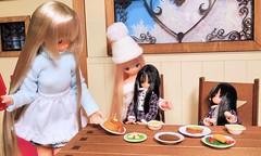 (nanatsuhachi) Tags: dinner doll anniversary miu feb25 azone pureneemo chiika excute ver11 excute bluebirdssong picconeemo majokkochiika majokkomiu piccoexcute
