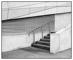 Steps and lines (Steve U) Tags: england bw white black west eye lines museum liverpool nw north steps dirty bridget litter soil bridgette soiled grubby ache riles eyeache