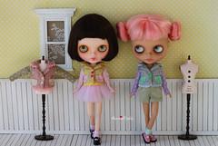 Anniedollz Handmade Blythe Outfits Contrast Color Jacket