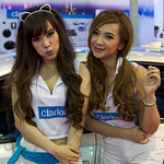 Sexy presenters for Clarion Car Sound Systems at the 36th Bangkok International Motor Show thumbnail