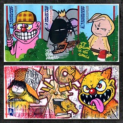 Collabos (PSYCO ZRCS 10/12) Tags: sticker stickerart hand label stickers collab usps drawn collaboration 228 collaborations collabs stickerporn