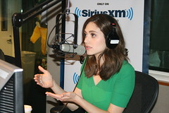 Emmy Rossum returns to the Covino & Rich Show (covinoandrich) Tags: show radio satellite rich emmy shameless rossum siriusxm covino