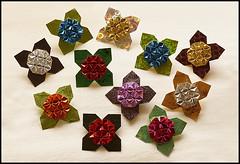 Brooch (Shuzo Fujimoto) (De Rode Olifant) Tags: origami brooch shuzofujimoto marjansmeijsters tessellation paper paperfolding pattern fujimoto