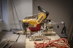 Chop Saw (mikejmartelli) Tags: woodwork saw construction industrial depthoffield build constructionsite carpentry powertool artisticphotography chopsaw dewalt carpentrytools dewaltsaw artisticconstruction