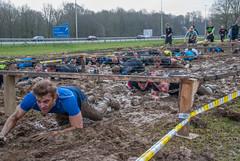 under the wire 1 (stevefge) Tags: people netherlands sport nijmegen mud nederland event viking berendonck strongviking