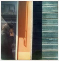 Due giorni (La T / Tiziana Nanni) Tags: portrait reflection film portraits polaroid sx70 mirror luca rimini ritratti analogic polaroidsx70 pellicola colorfilm analogico istantanea iamyou tizianananni