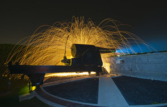 How not to light a cannon (ConzNL) Tags: light holland netherlands painting nikon explosion nederland cannon hellevoetsluis misfire 10mm d5000