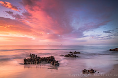 Mystical (Images by Ann Clarke) Tags: ocean longexposure clouds sunrise rocks pastel australia coastal southaustralia eyrepeninsula pointboston leefilters may2016