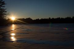 Frozen Silver Lake (David Arrowsmith Photography) Tags: trees winter sunset lake ny newyork water frozen woods memories catskills frozenwater bethel frozenlake 500px ifttt