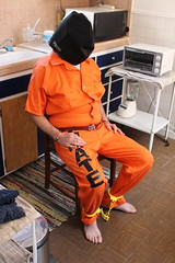 IMG_7829 (bob.laly) Tags: uniform chain jail shackles padlock handcuffs prisoner jumpsuit inmate